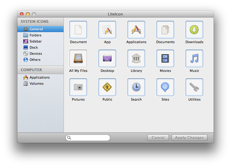 The Lite Icon window is simple and easy to use. Just cut and paste like you learned in the above method.