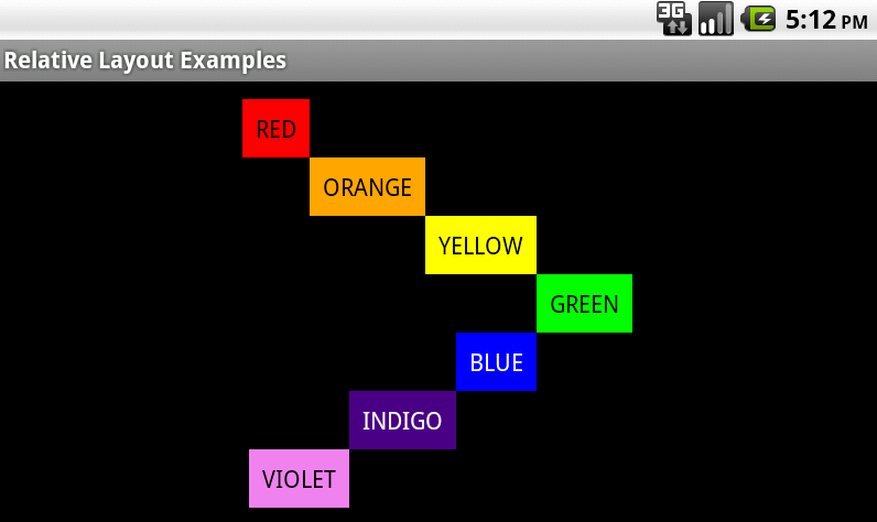 Android Relative Layouts Challenge Figure 3B