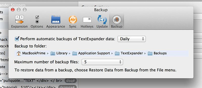 Perform daily backups