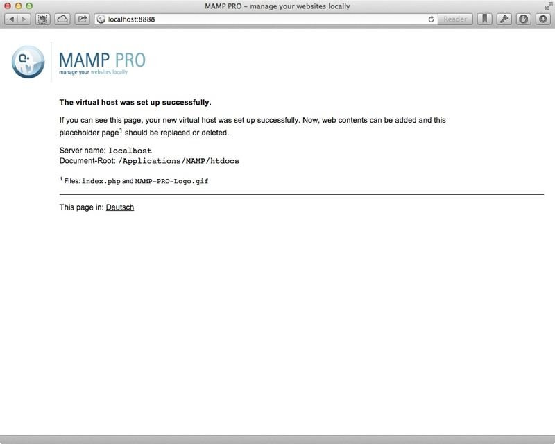 MAMP's default page in htdocs.