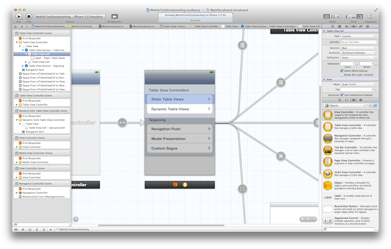 UIStoryboard Editor View Zoomed In