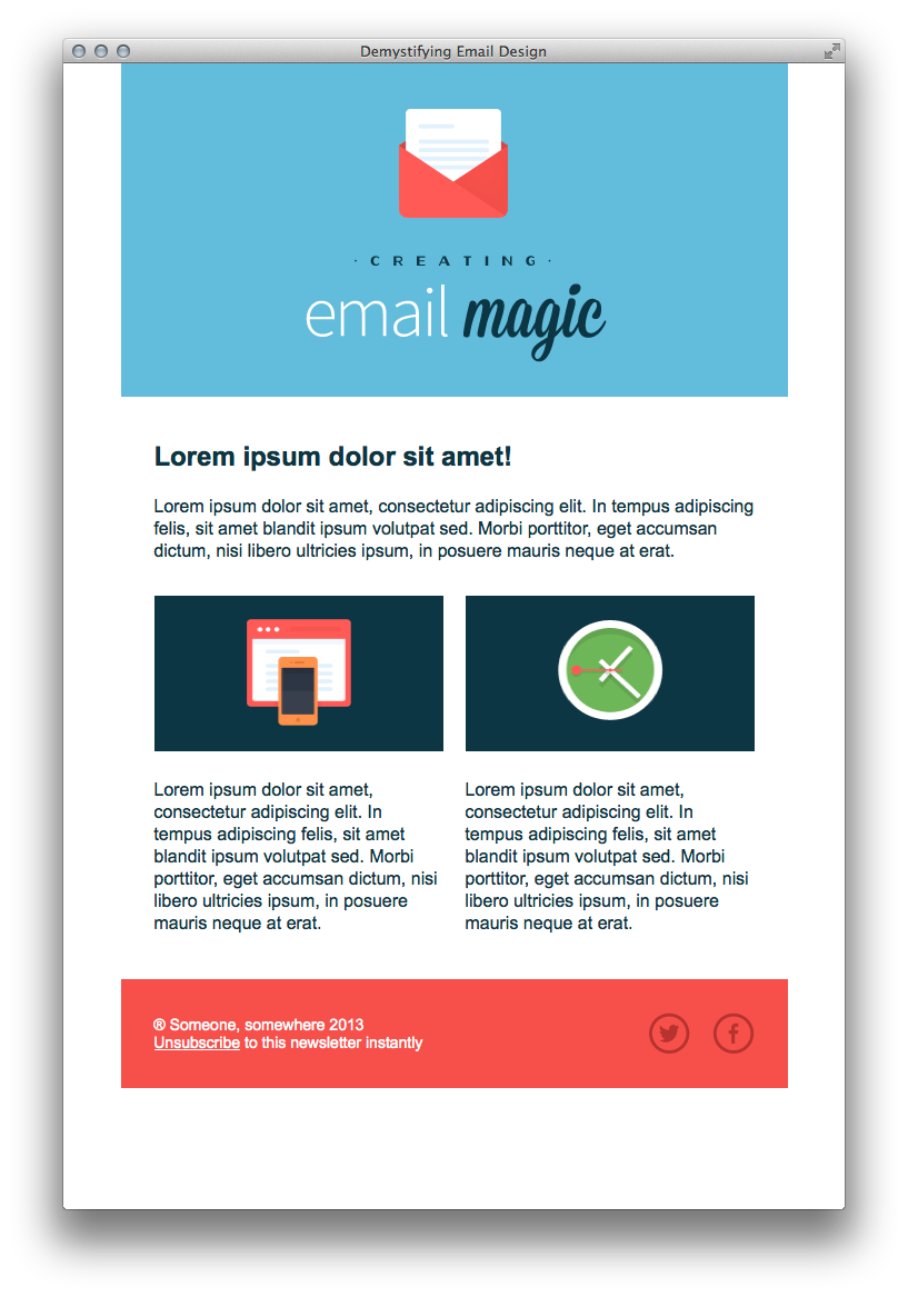 Erstellen Sie eine HTML E Mail Vorlage aus dem Nichts
