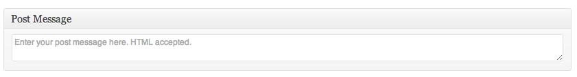 Plugin Message Example