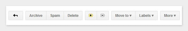 The message toolbar in Gmail
