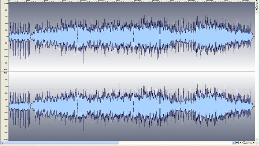 An unmastered stereo wave