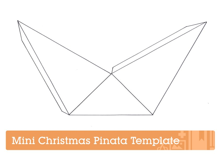Piñata template for Mini Christmas Piñata