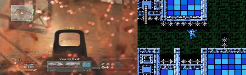 Call of Duty Modern Warfare 2 and Megaman