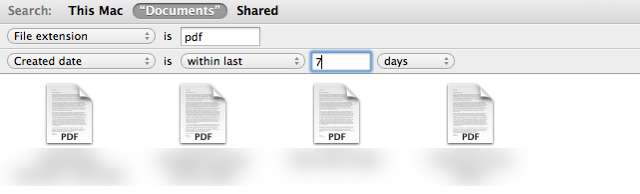The Smart folder updates to show files meeting our search rules.