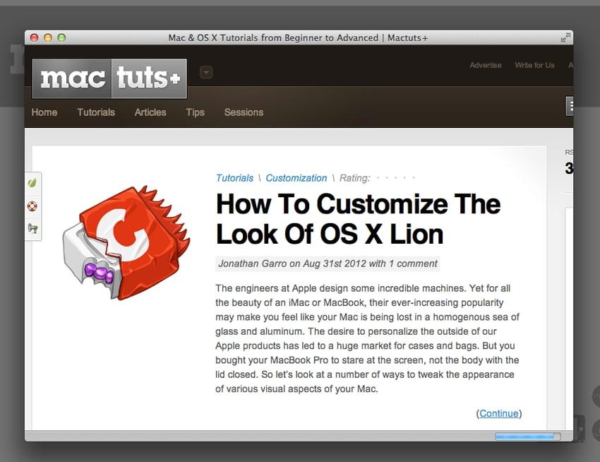 Mactuts+ Application