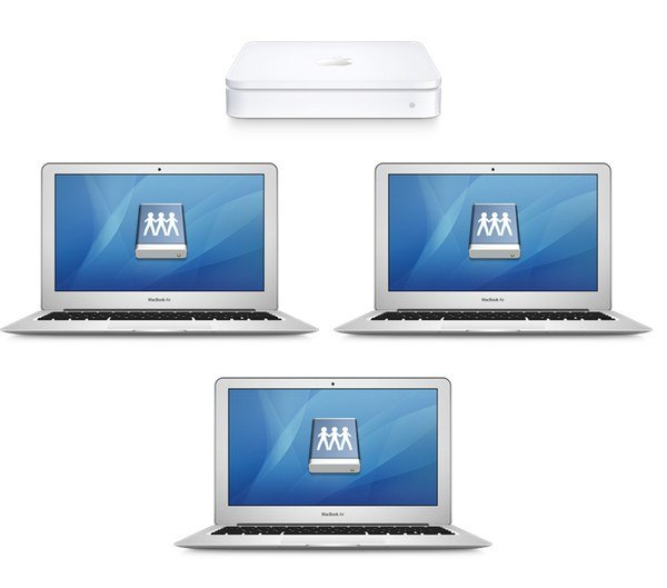 A Network Attached Storage (NAS) device centralises your files and provides access to multiple Macs