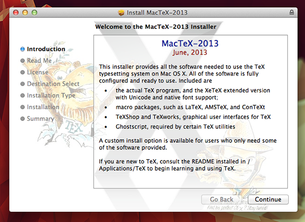 You install MacTeX like you would any other OS X program through the built-in installer.