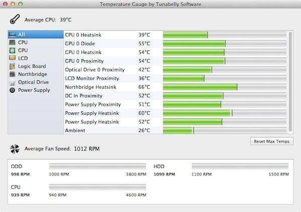 Temperature Gauge app