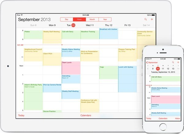 iCloud's Calendars and Reminders function keeps all your events in sync across any of your iCloud-enabled devices.