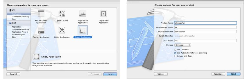 Creating a new Xcode project
