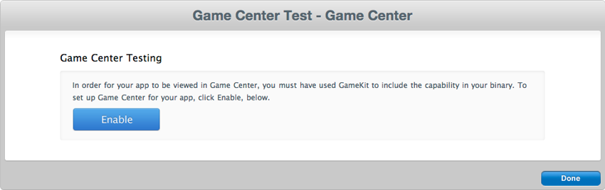 Manage Game Center
