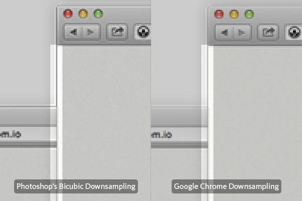 Borders and Strokes - Photoshop vs Chrome