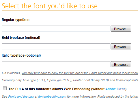 Choose A Font