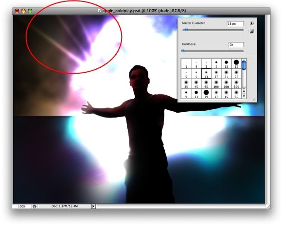 Apple Coldplay ad in Photoshop