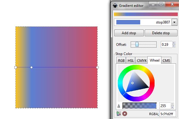 adjust gradient offset
