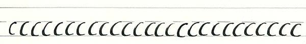 calligraphy intro - basic curve line