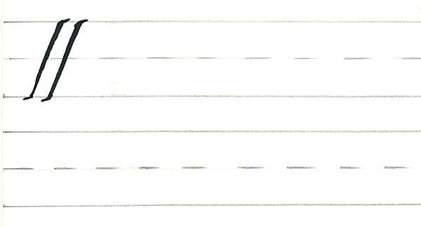 calligraphy intro - basic downstroke
