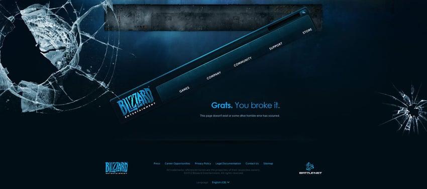 Blizzard Entertainment's 404 Page