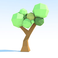 Preview for Low-Poly Paper Tree Creation & GI Baking in Cinema 4D