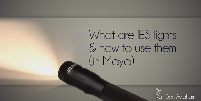 Quicktip: What are IES Lights & How to Use Them in Maya