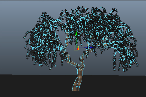 Designing and Animating a Birch Tree in Maya using Paint Effects