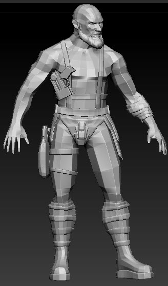 Tutorial Warrior Character in Autodesk Maya and Pixologic ZBrush