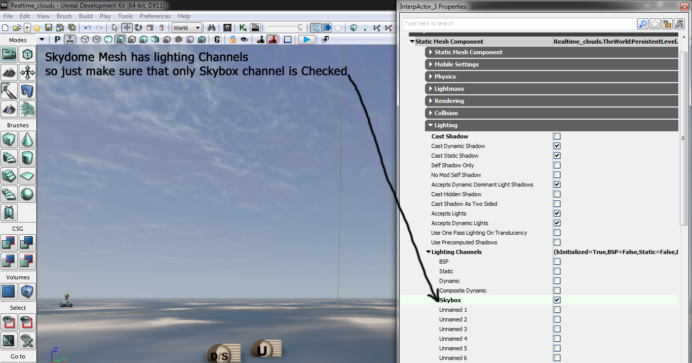 Tutorial Dynamic Cloud Shadows in UDK