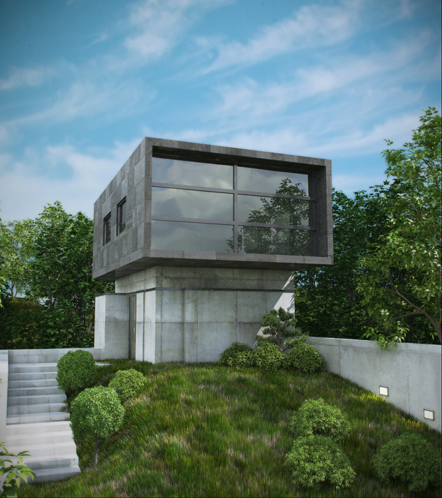 Cgtuts+ Workshop Artist Render Critique Modern Hill House