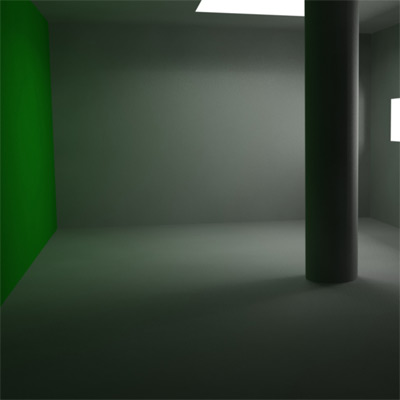 Maya indirect lighting systems retina