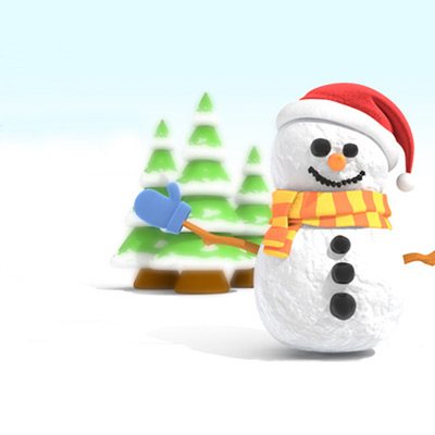Preview for Create a Stylized Snowman and Xpresso Driven Trees in Cinema 4D - Part 4