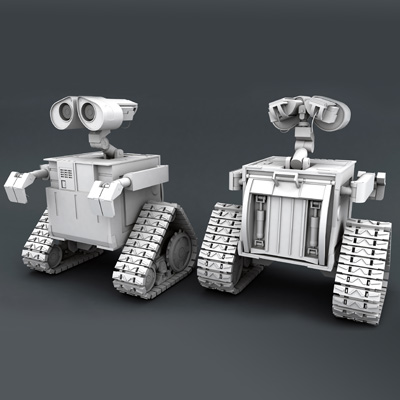 Preview for Recreating Pixar's Wall-e in High Poly Using Maya 2012: Part 18