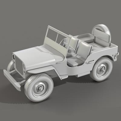 Modo willys jeep retina