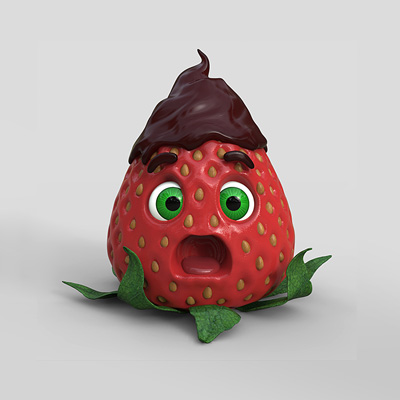Preview for Create a Stylized Strawberry Character with ZBrush and Keyshot