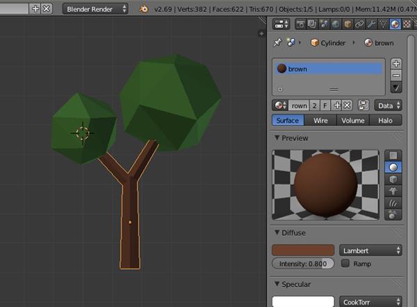 Как в блендере сделать дерево