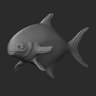 Zbrush multiple fish pt2 retina