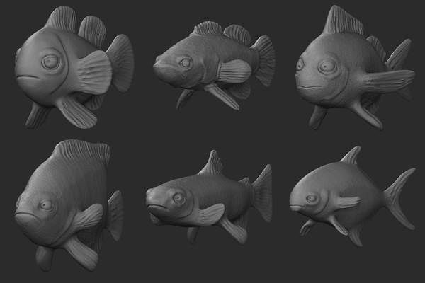 Create multiple sculpts from a single basemesh in zbrush Simple 3d modeling online