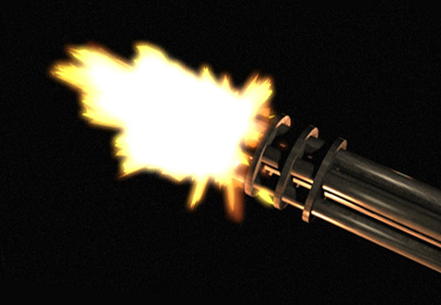 Create a Minigun Muzzle Flash in 3D Studio Max