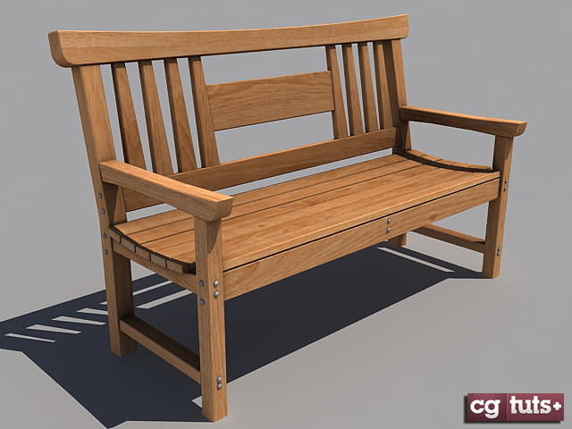 Freebie : Japanese Wooden Bench