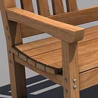 Thumb 3d cg vfx wood bench model 3dsmax 3ds obj textured