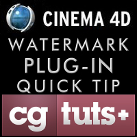 Preview for Quick Tip: C4D Watermark Plugin