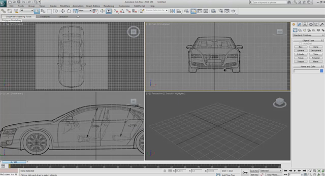 Quick tip create and set up blueprints in 3d studio max using photoshop malvernweather Choice Image