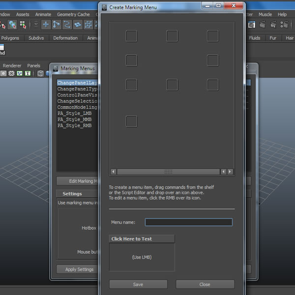 Tutorial quick tip Creating Custom Marking Menus in Maya