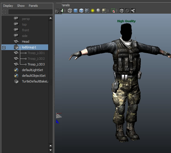 Quick Tip: Working with LOD Groups in Maya