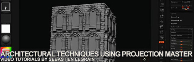 These Videos Cover A Couple Techniques On How To Create Architectural  Sculptures Using Master Projection In ZBrush.
