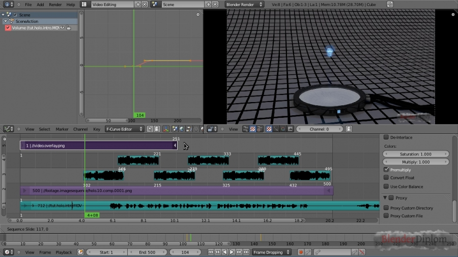Blender Video Sequence Editor VSE