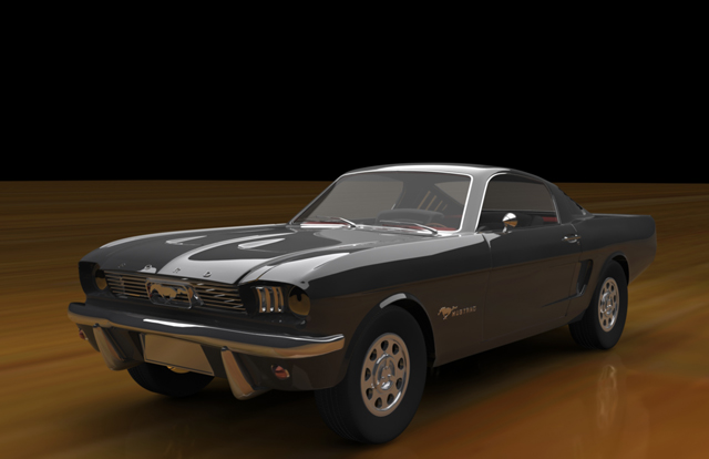Cgtuts+ Car Mustang Render critique
